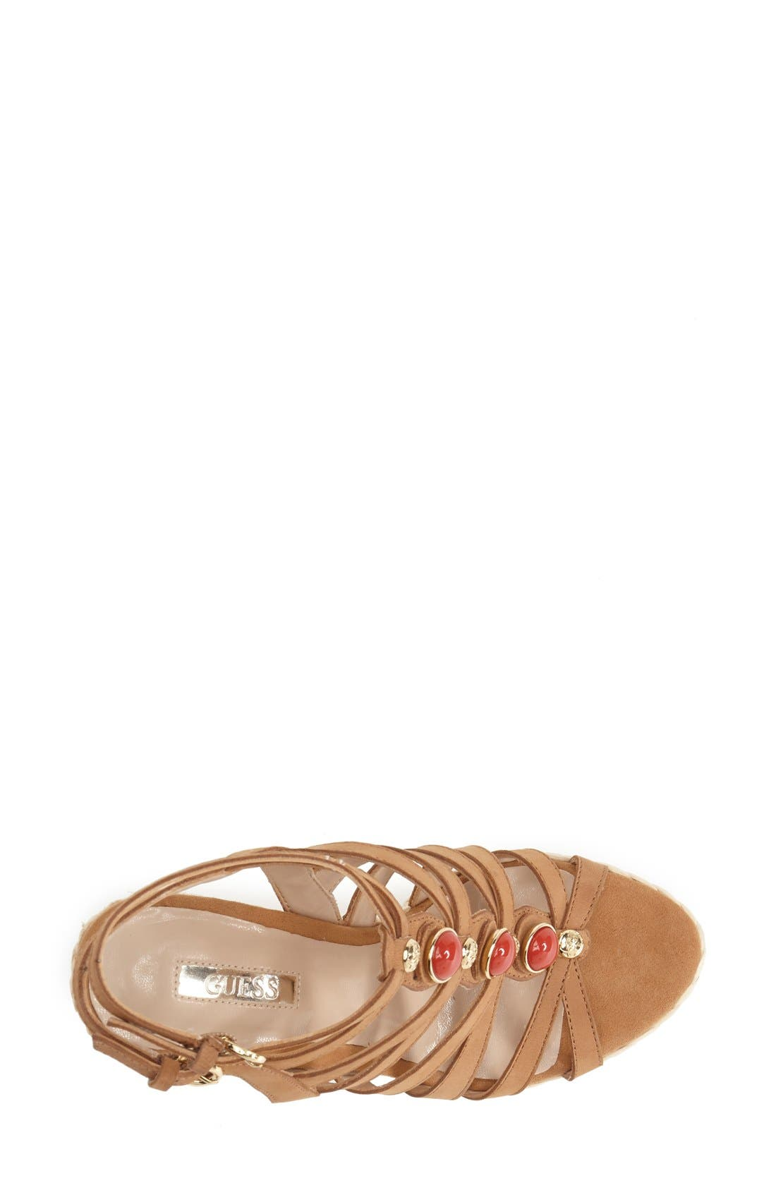 Alternate Image 3  - GUESS 'Onixx' Snake Embossed Leather Wedge Sandal (Women)