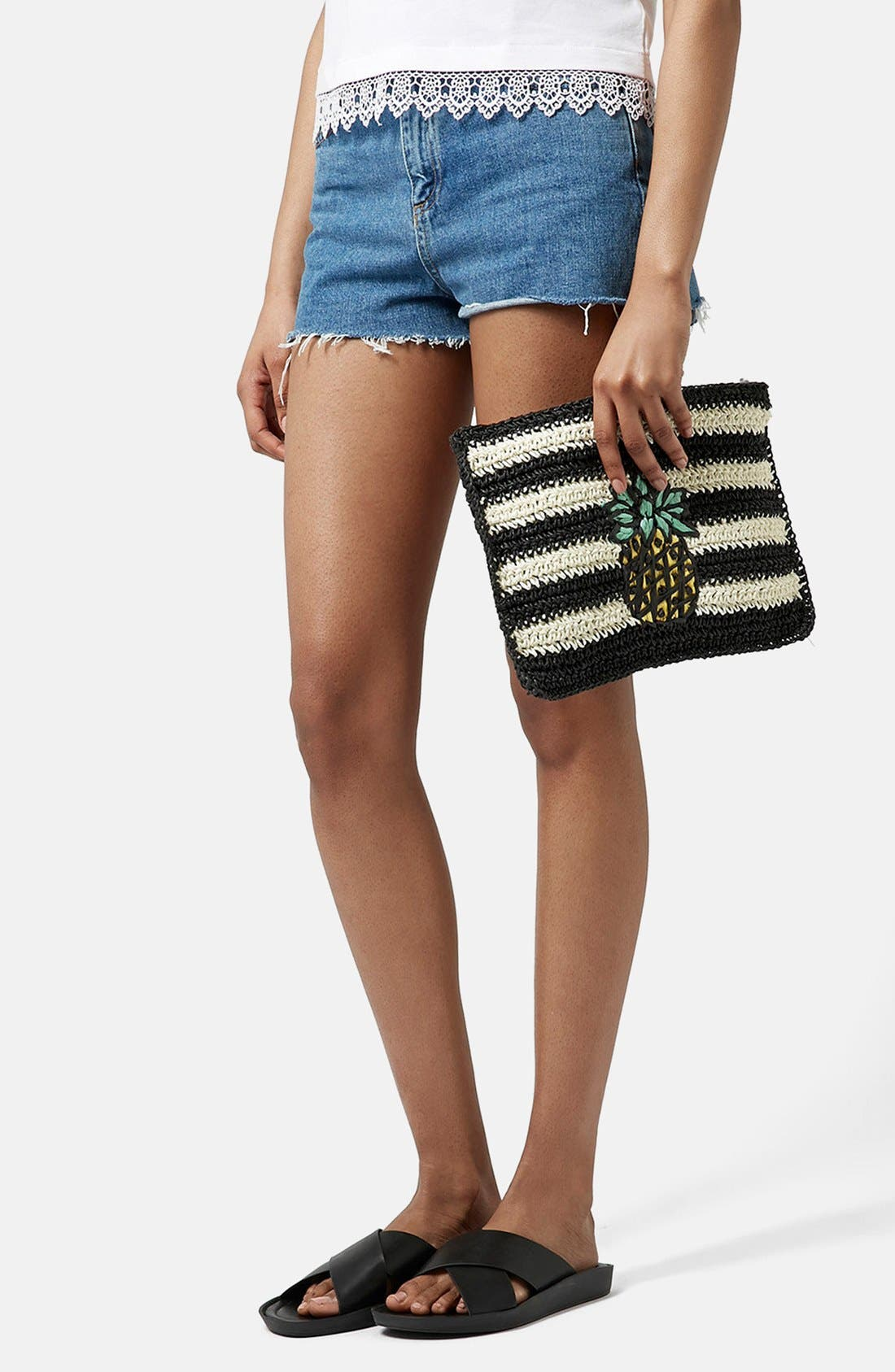 Alternate Image 2  - Topshop 'Pineapple' Woven Clutch