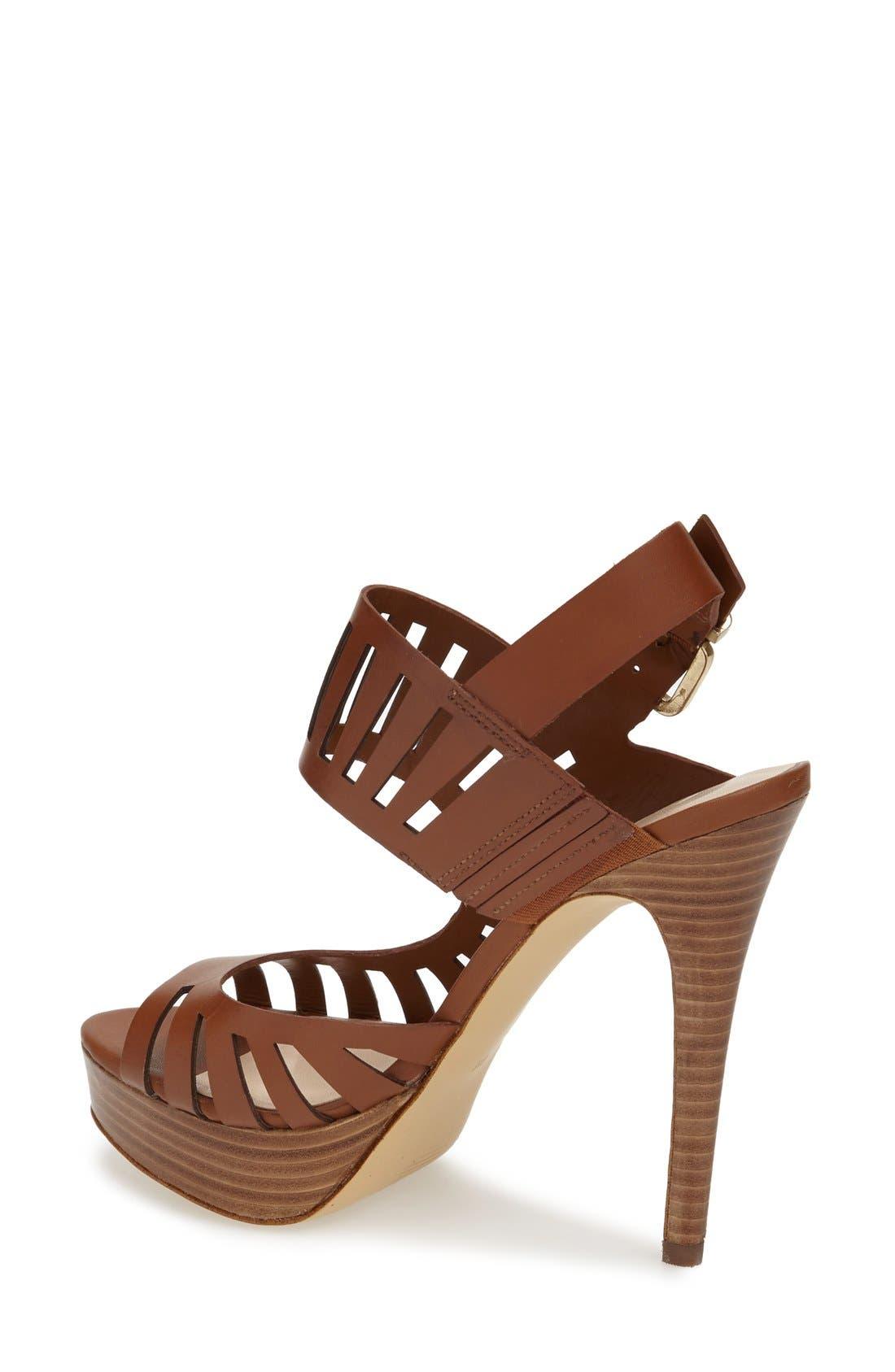 Alternate Image 2  - GUESS 'Kabirra' Cutout Leather Platform Sandal (Women)