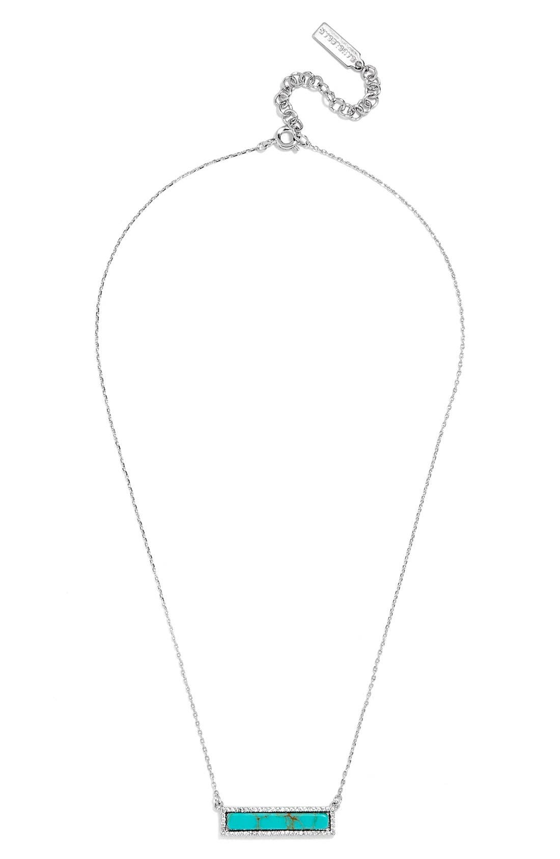 Alternate Image 2  - BaubleBar Pavé Bar Pendant Necklace