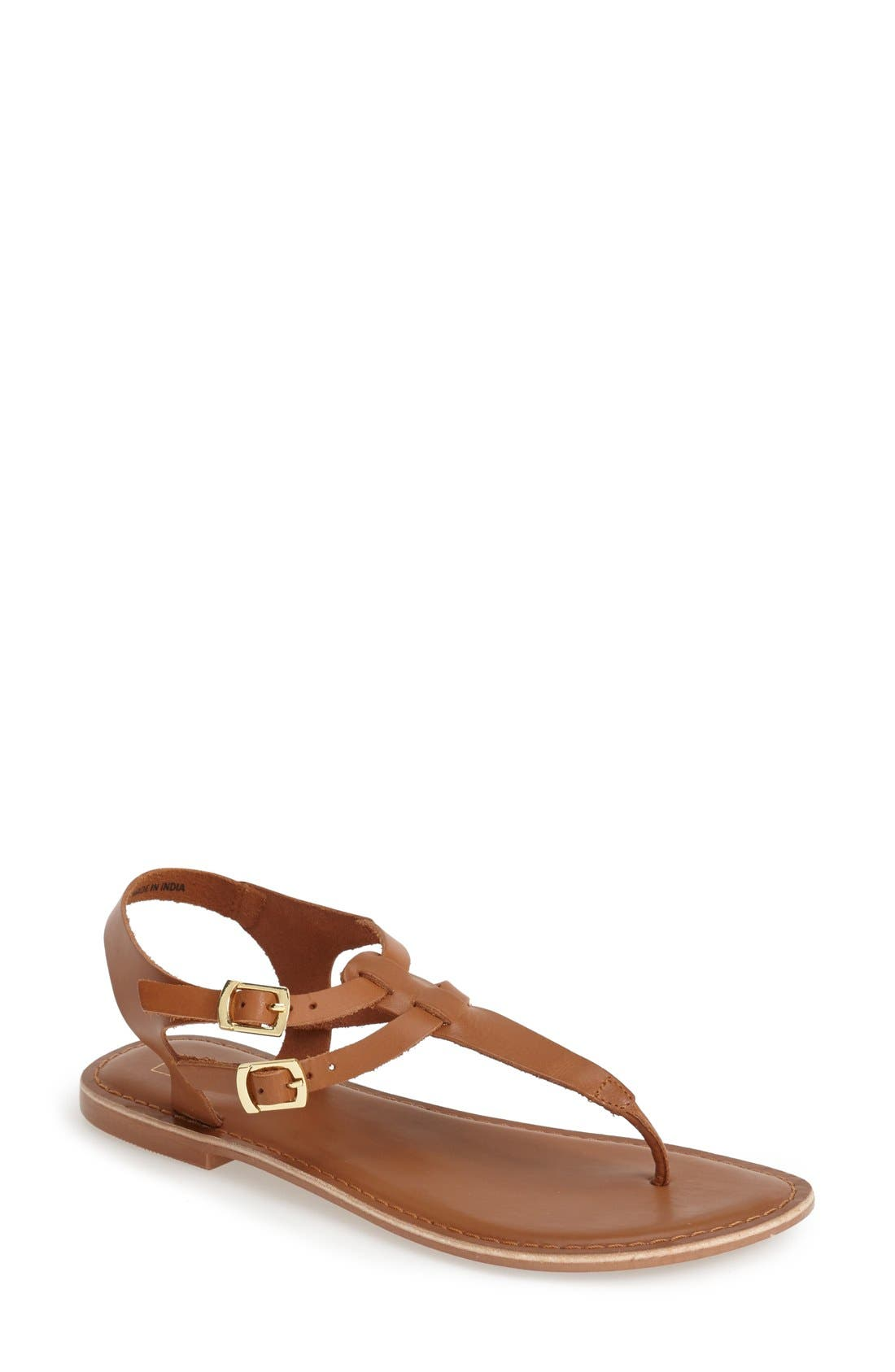 Main Image - Topshop 'Harbour' Strappy Leather Thong Sandal (Women)