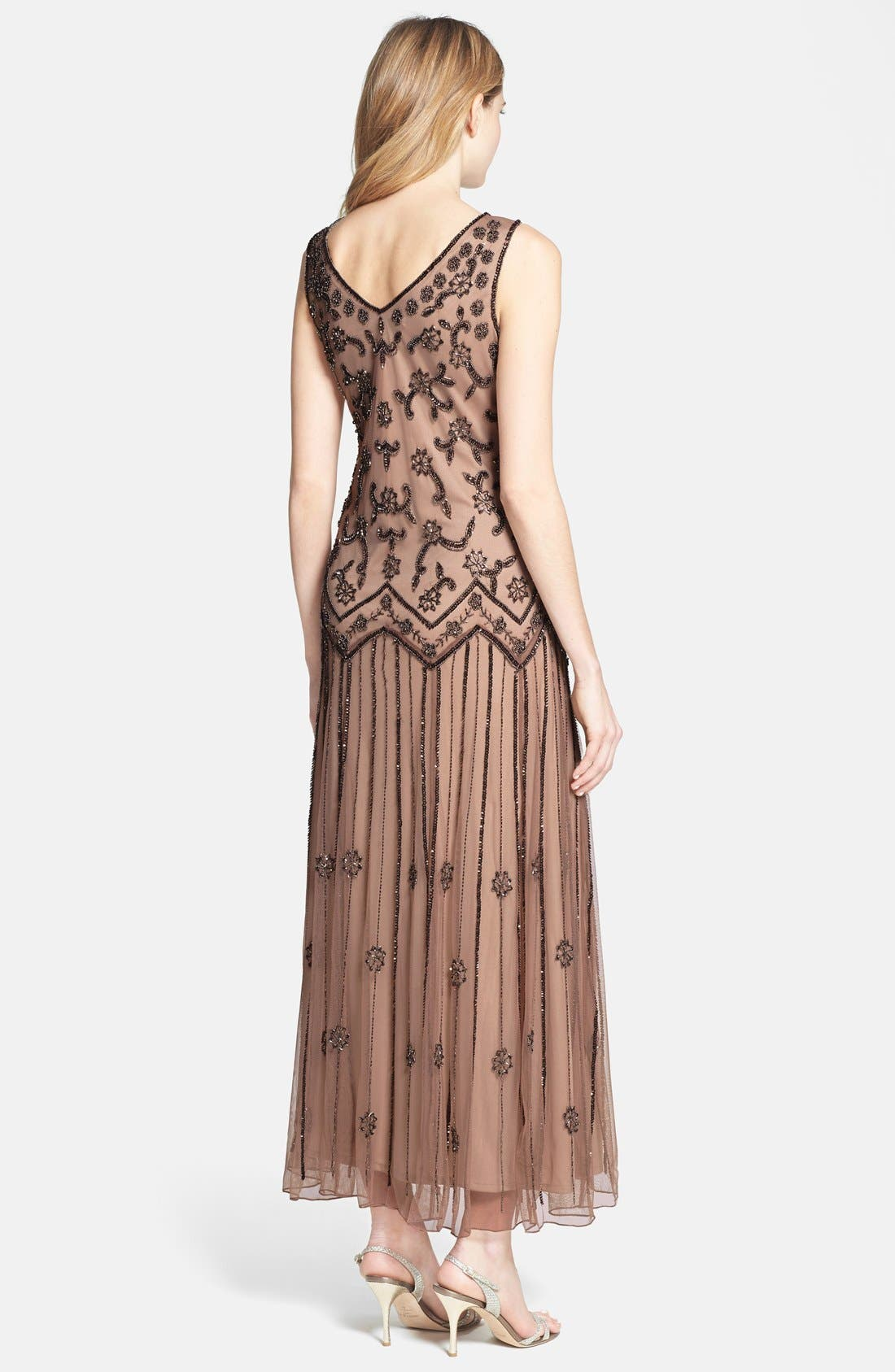 Alternate Image 2  - Pisarro Nights V-Neck Beaded Sequin Gown