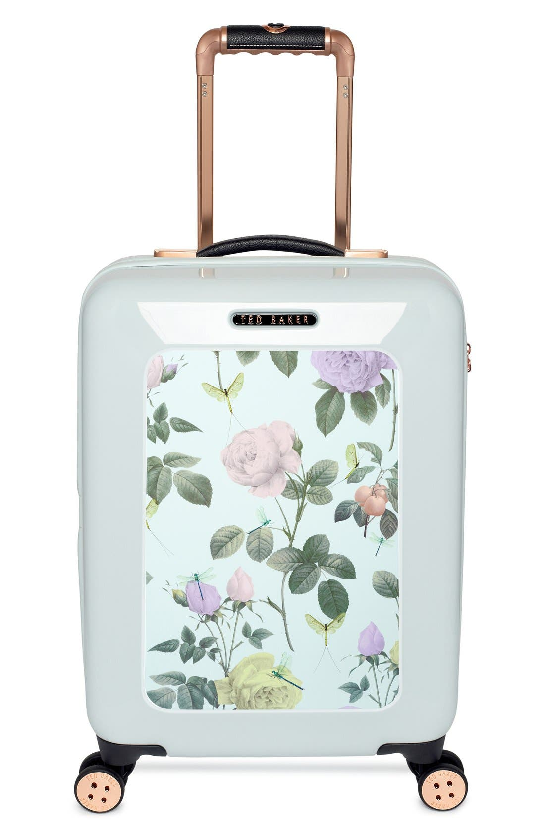 Main Image - Ted Baker London 'Small Rose' Hard Shell Suitcase (22 Inch)