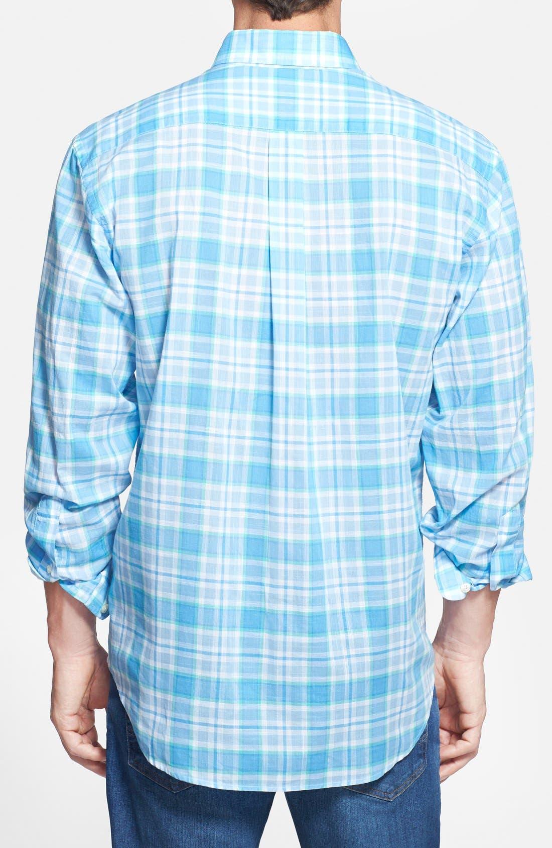 Alternate Image 2  - Vineyard Vines 'Tucker' Classic Fit Plaid Sport Shirt