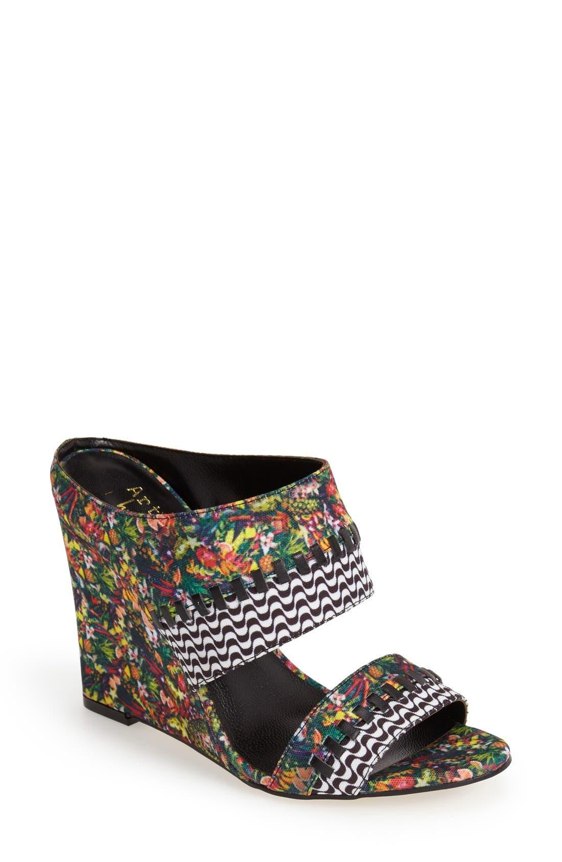 Alternate Image 1 Selected - Nicole Miller 'Orlando' Wedge Sandal (Women)