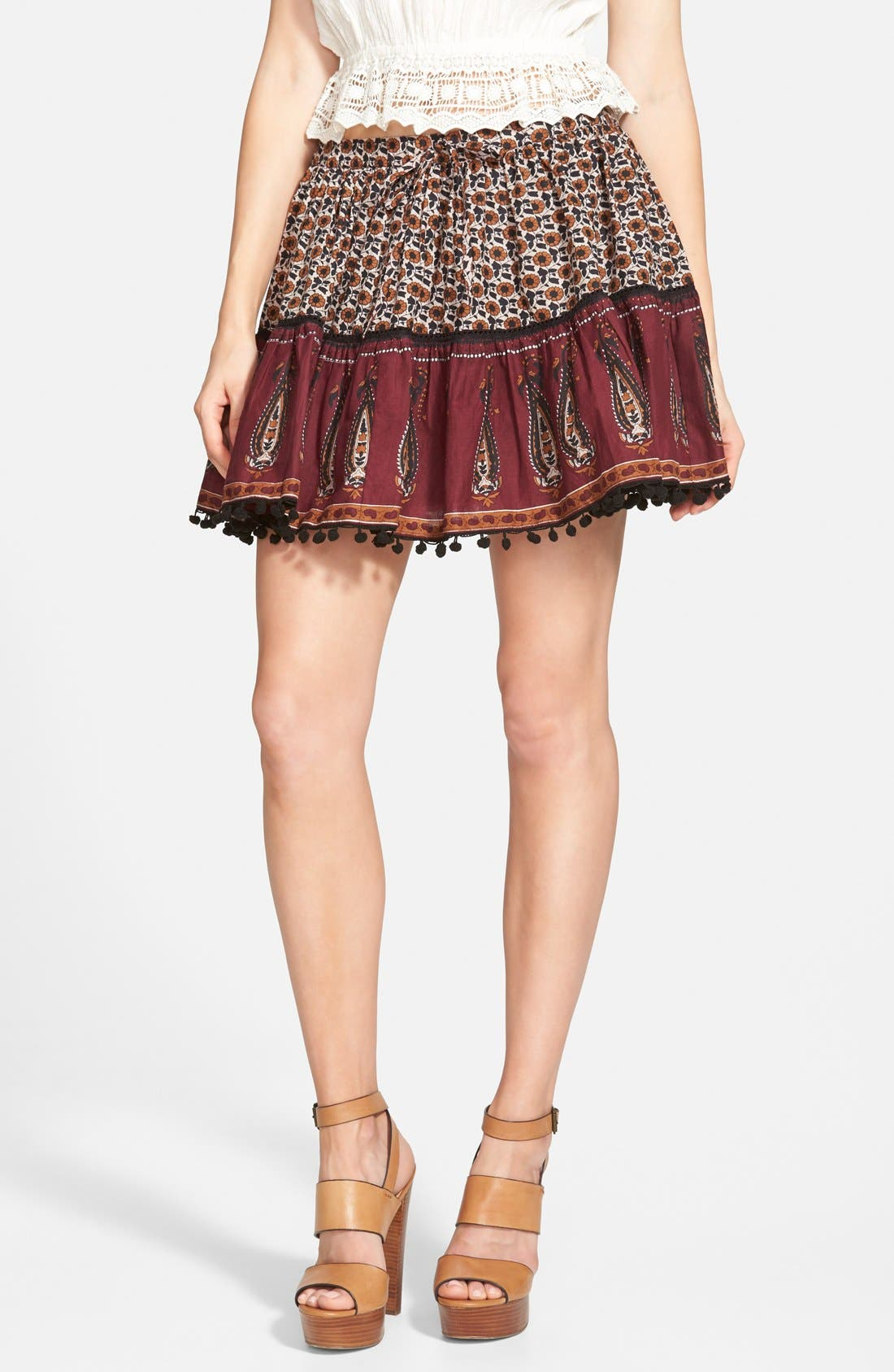 Alternate Image 1 Selected - Band of Gypsies Mix Print Skirt