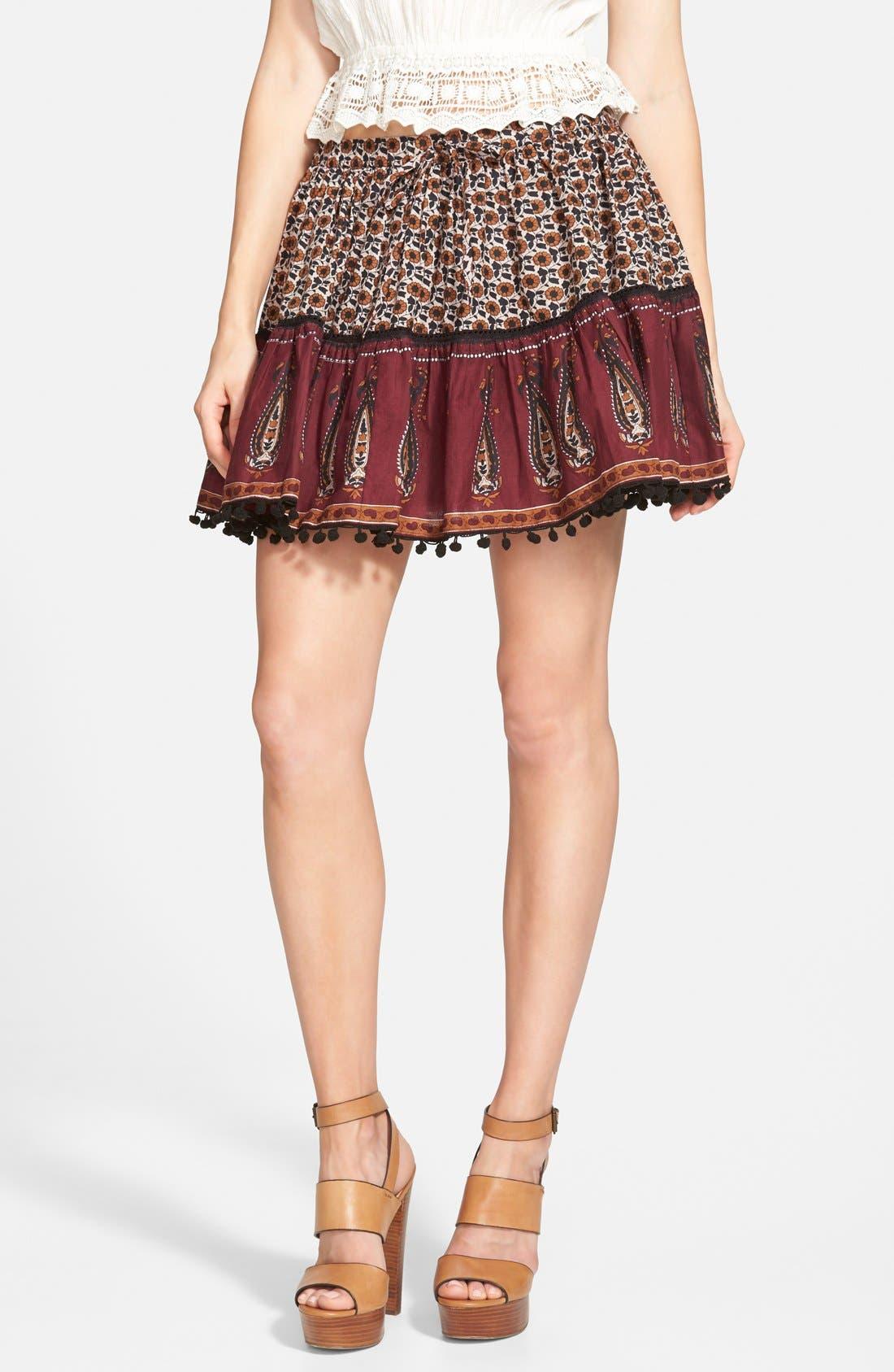 Main Image - Band of Gypsies Mix Print Skirt