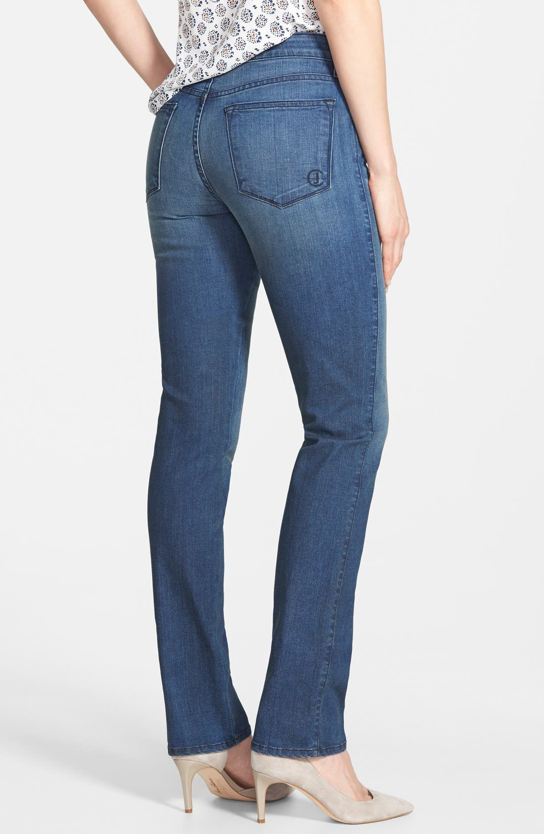 Alternate Image 2  - CJ by Cookie Johnson 'Faith' Stretch Straight Leg Jeans (Dyson) (Online Only)