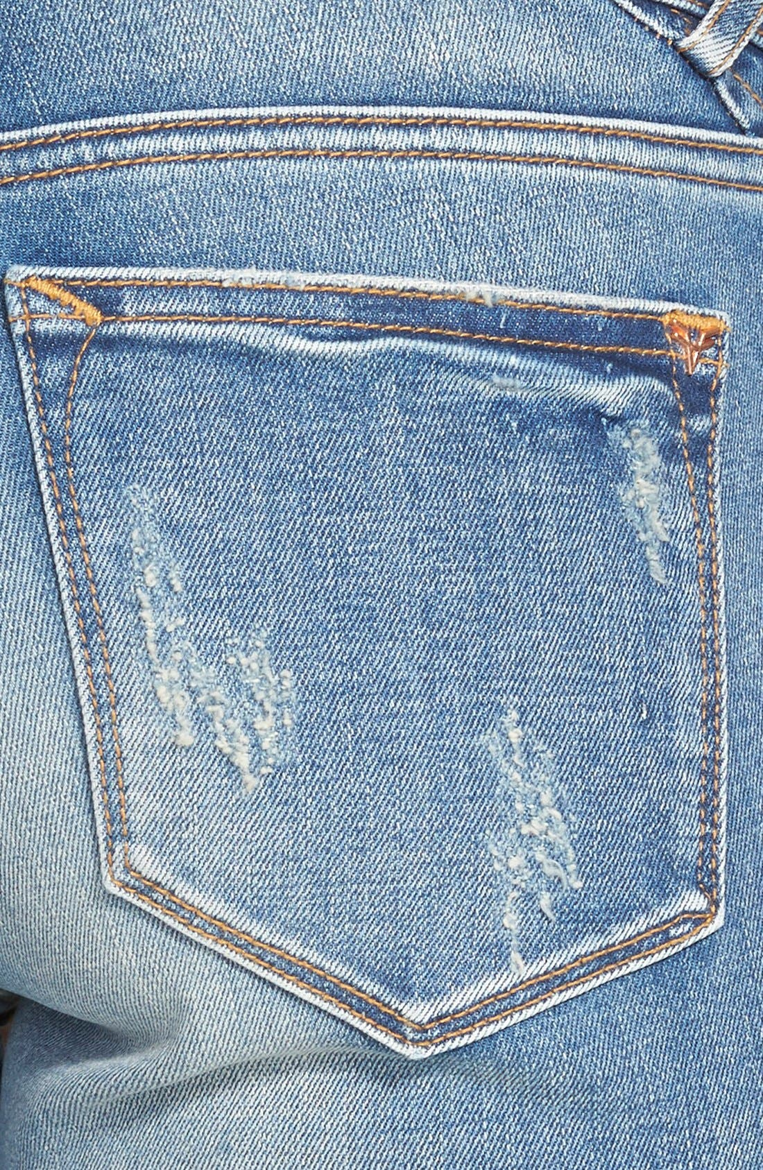 Alternate Image 3  - Vigoss Distressed Skinny Jeans (Light Wash)