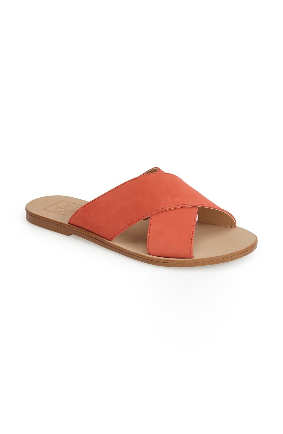 Alternate Image 1 Selected - DV by Dolce Vita 'Orra' Crossover Strap Flat Sandal (Women)