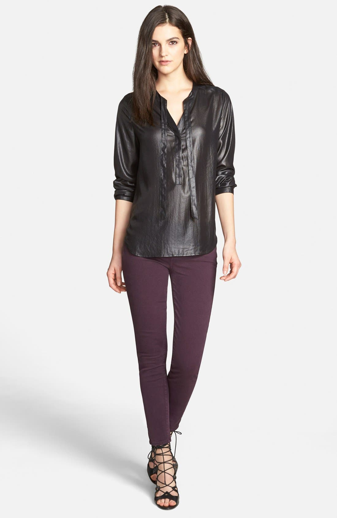 Alternate Image 2  - Paige Denim 'Verdugo' Ankle Skinny Jeans (Autumn Plum) (Nordstrom Exclusive)
