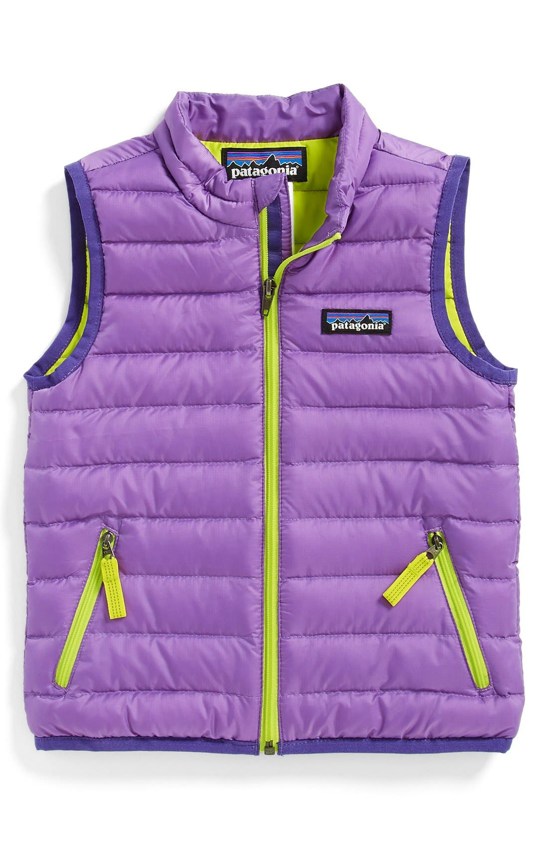 Main Image - Patagonia Quilted Down Vest (Toddler Girls)