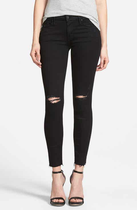 Black Wash Skinny Jeans for Women | Nordstrom