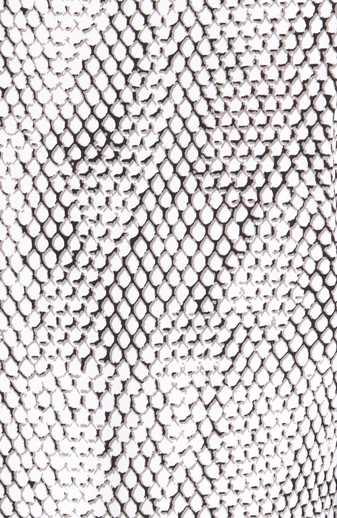 Alternate Image 3  - MICHAEL Michael Kors Snakeskin Border Print Shift Dress (Regular & Petite)