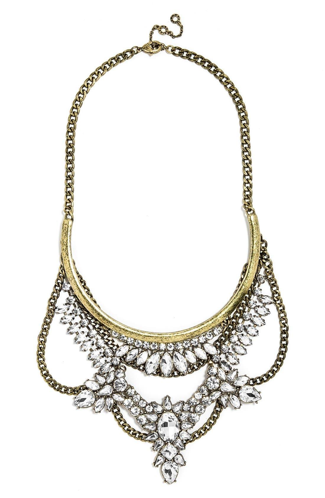 Alternate Image 1 Selected - BaubleBar 'Crystal Grendel' Bib Necklace