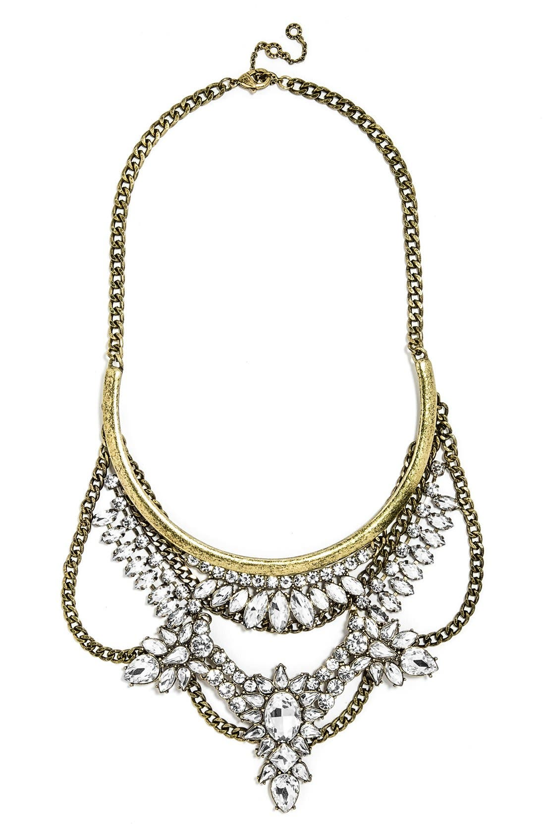 Main Image - BaubleBar 'Crystal Grendel' Bib Necklace