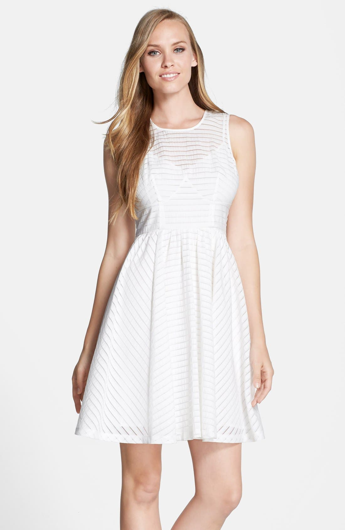 Alternate Image 1 Selected - Plenty by Tracy Reese 'Alana' Shadow Stripe Fit & Flare Dress