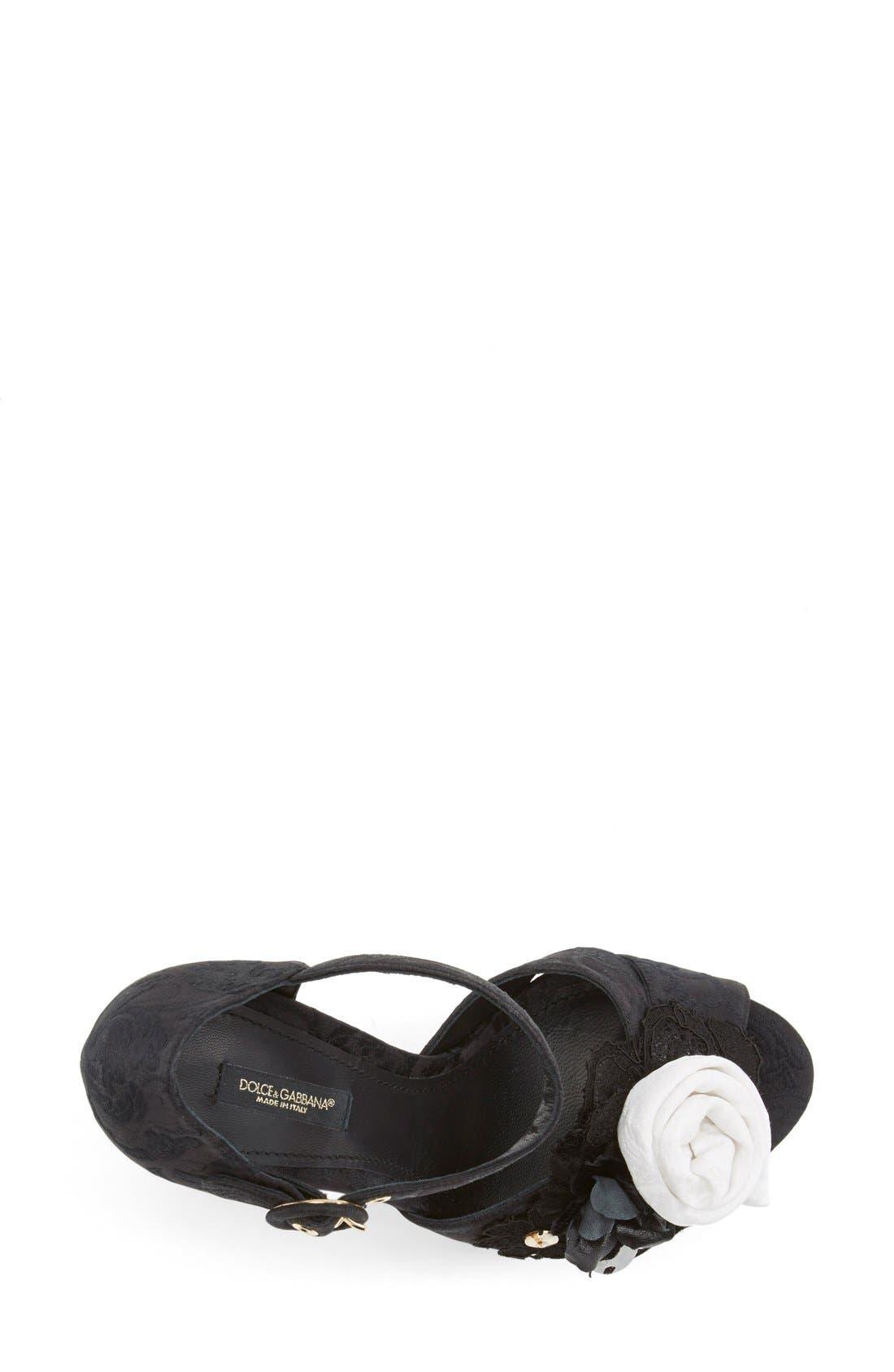 Alternate Image 3  - Dolce&Gabbana Ankle Strap Platform Sandal (Women)