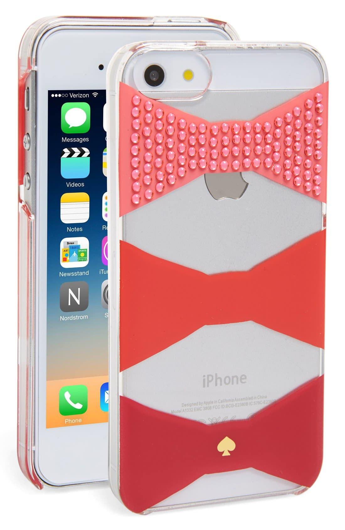 Alternate Image 1 Selected - kate spade new york 'embellished bow' iPhone 6 & 6s case