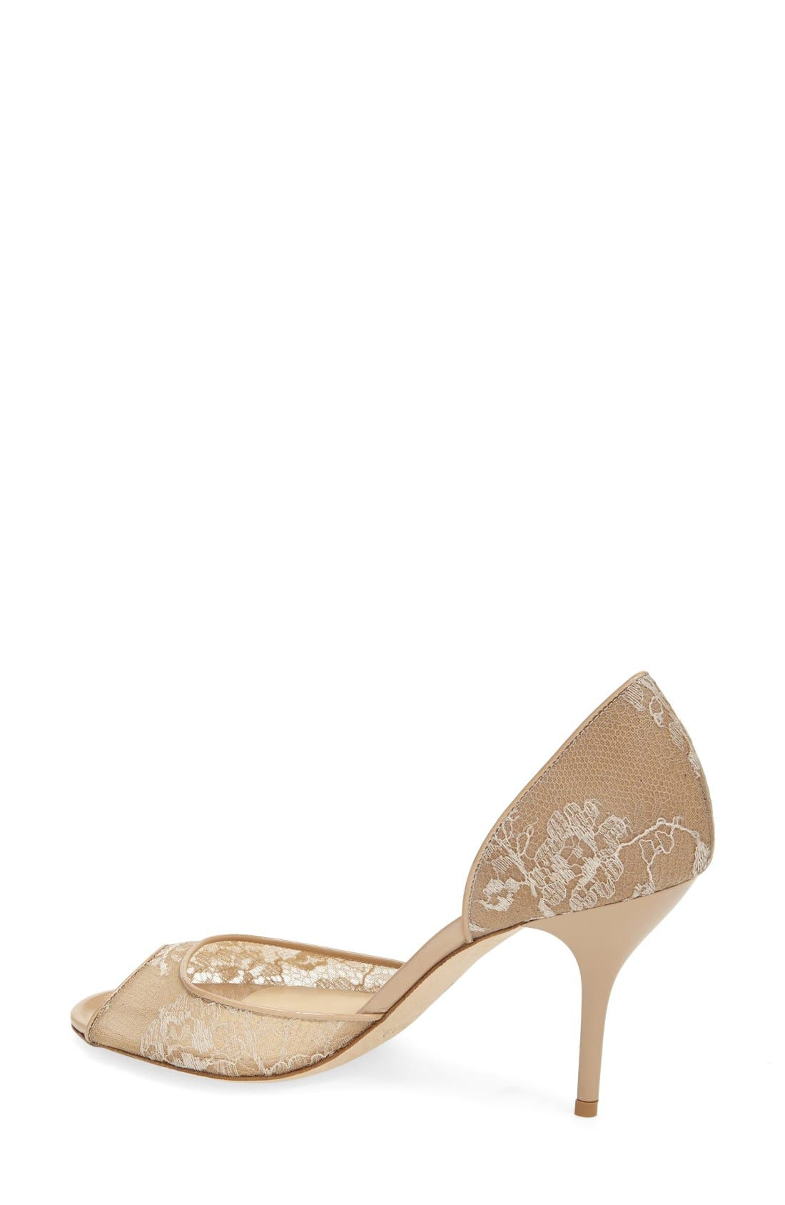 Alternate Image 2  - Jimmy Choo 'Lien' Lace Open Toe d'Orsay Pump (Women)