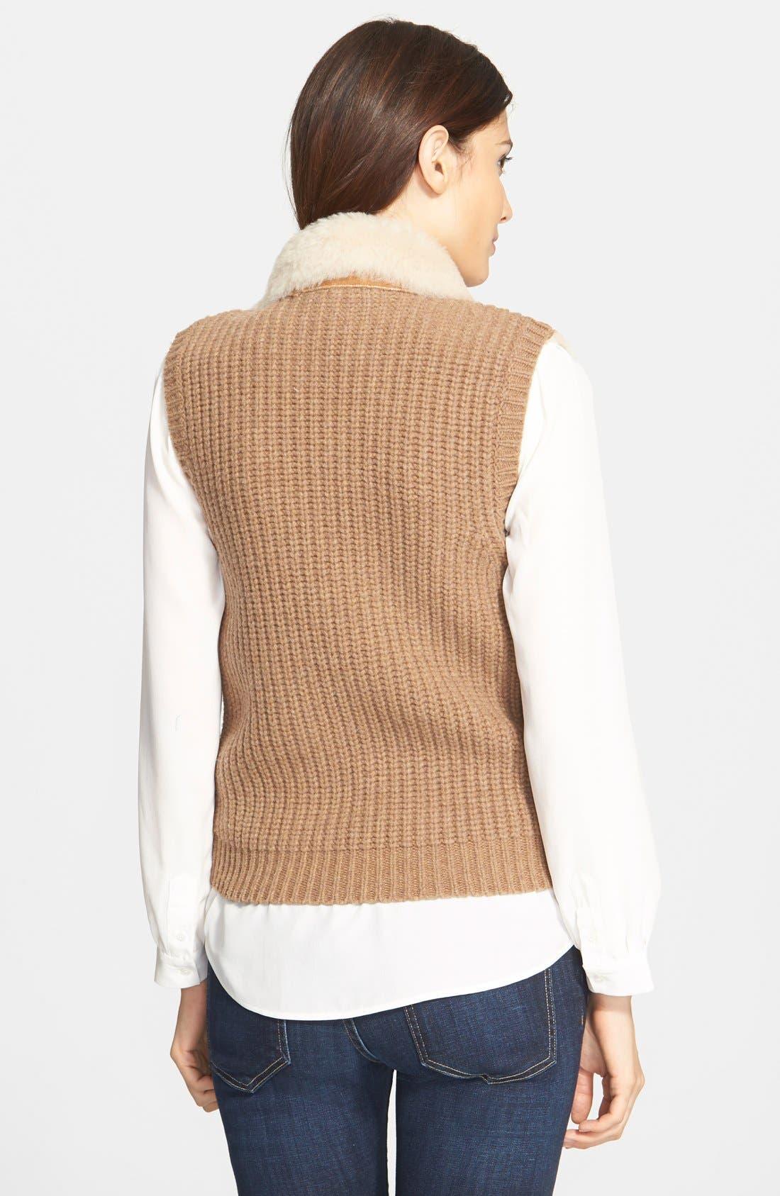 Alternate Image 2  - Joie 'Brinley' Genuine Shearling & Merino Wool Vest