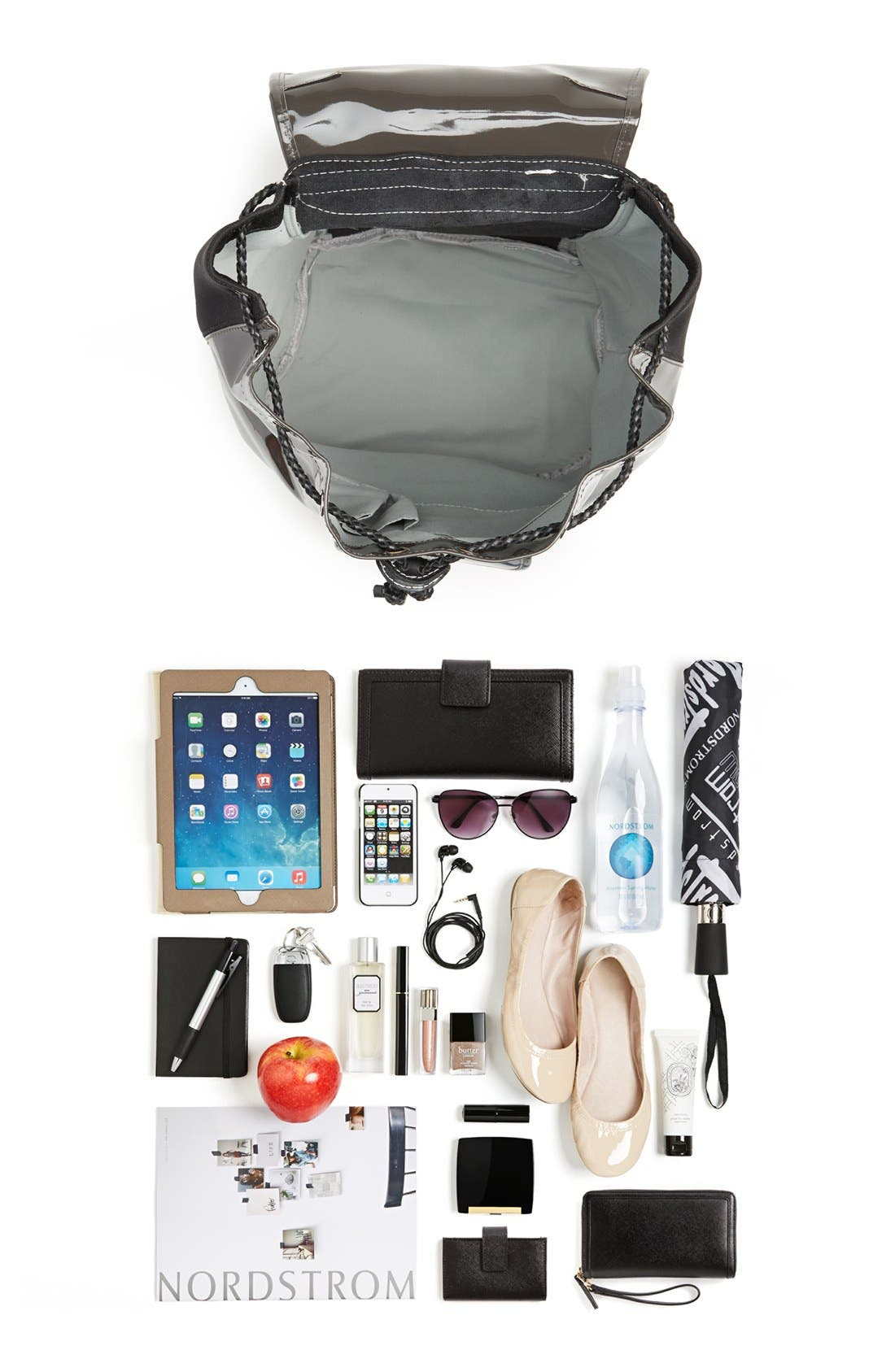 Alternate Image 7  - Harper Ave 'Philip' Neoprene & Faux Patent Leather Backpack
