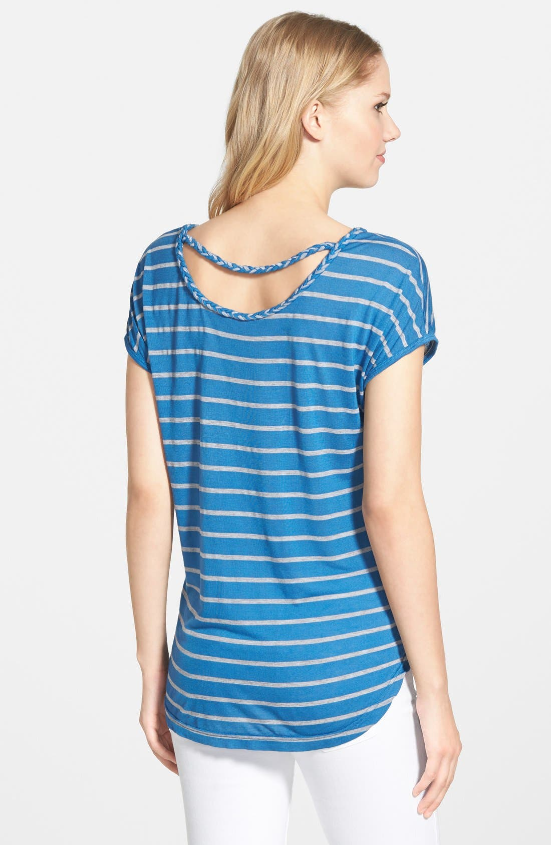 Alternate Image 1 Selected - Two by Vince Camuto Braid Trim Stripe Tee