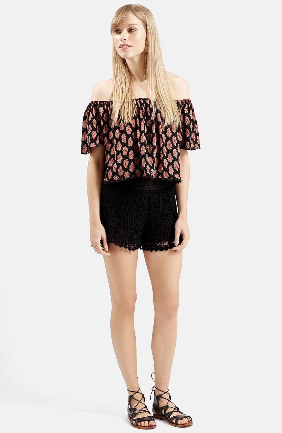 Alternate Image 5  - Topshop Tile Print Off the Shoulder Top