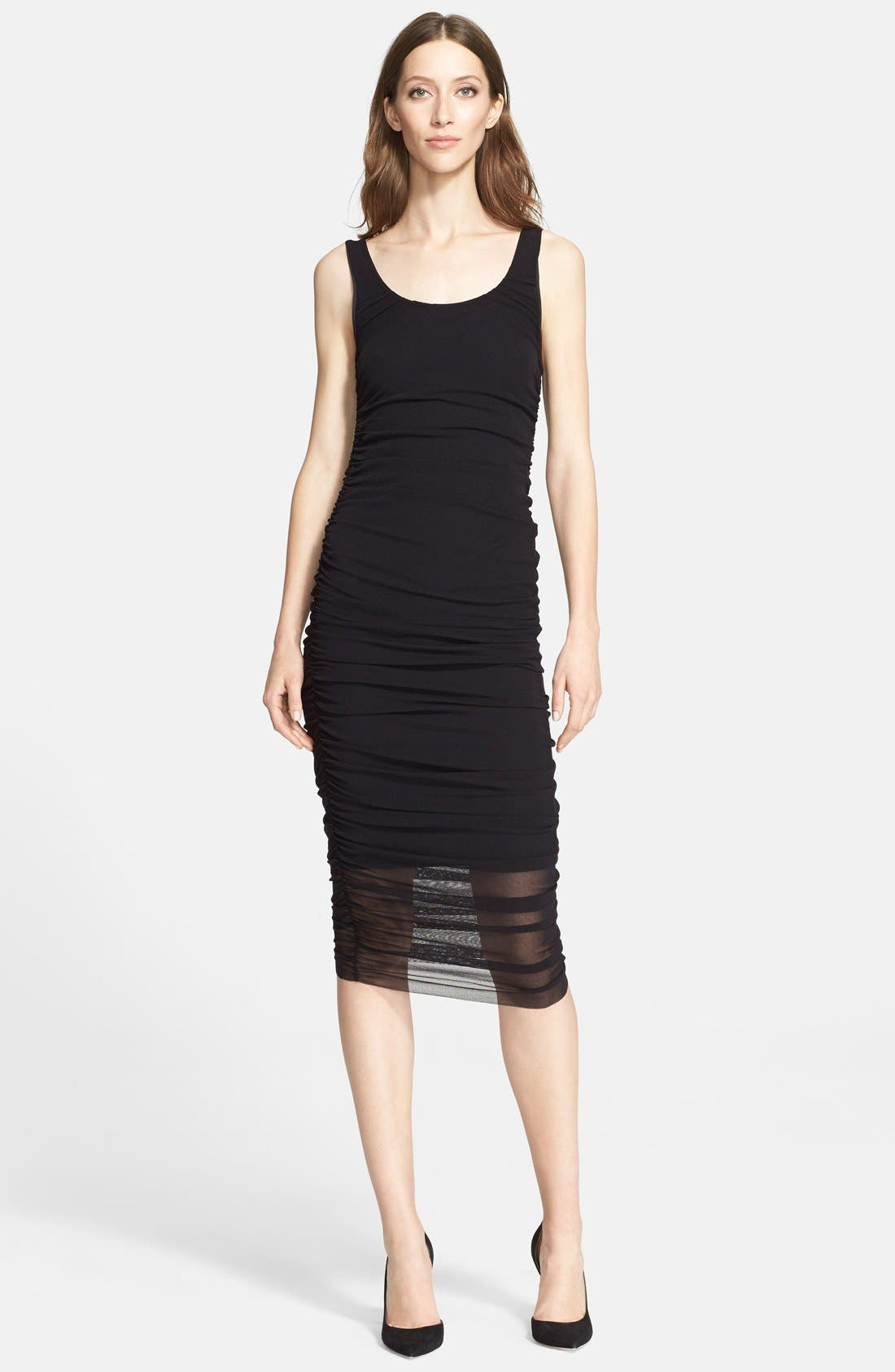 Main Image - Jean Paul Gaultier Ruched Tulle Tank Dress (Nordstrom Exclusive)