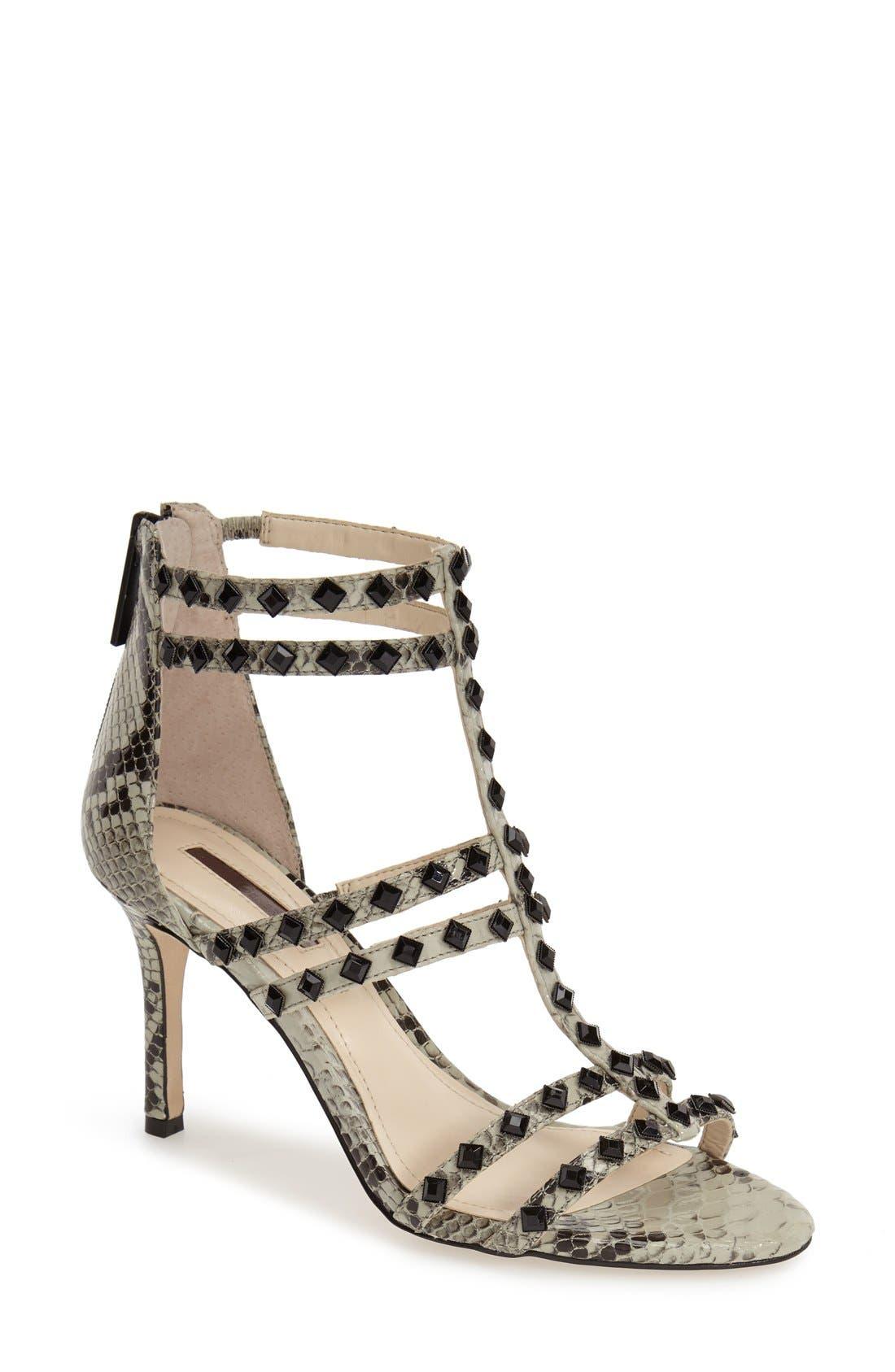 Alternate Image 1 Selected - BCBGeneration 'Dariah' Studded T-Strap Sandal (Women)