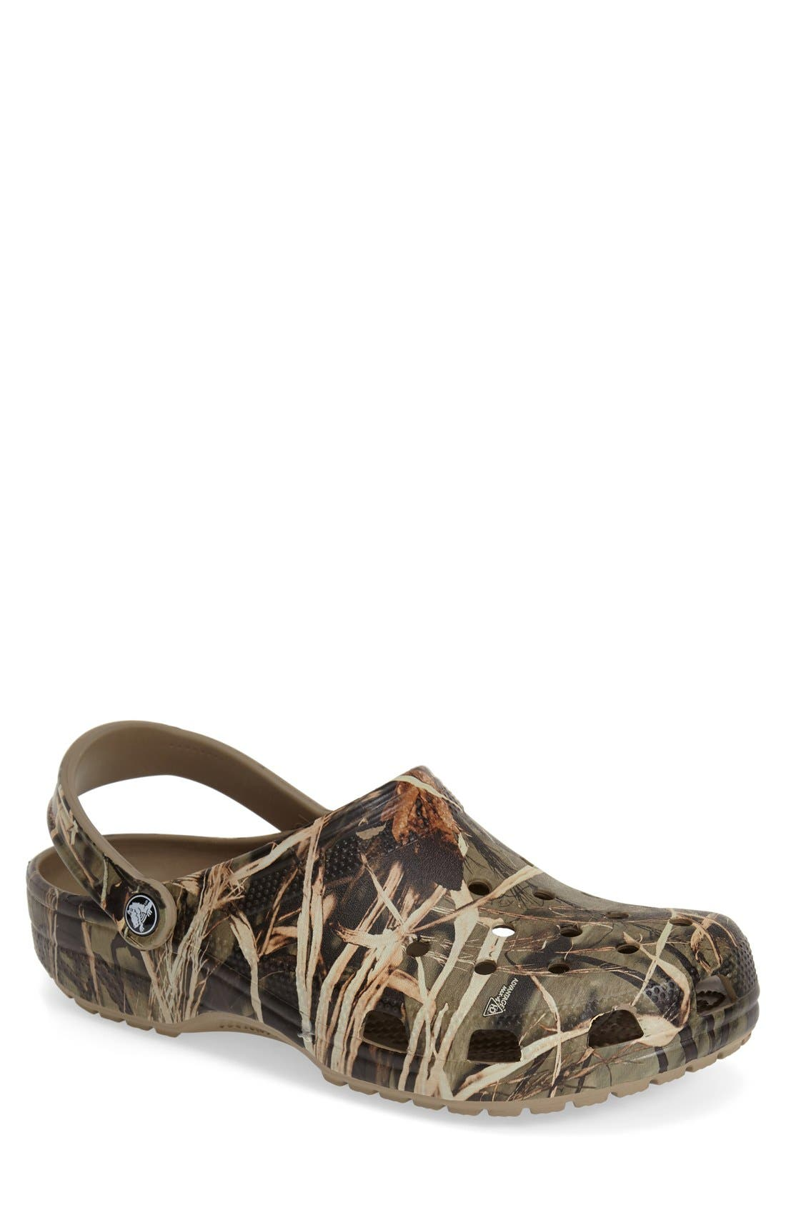 CROCS™ 'Classic Realtree™' Camo Clog Slip-On (Men)