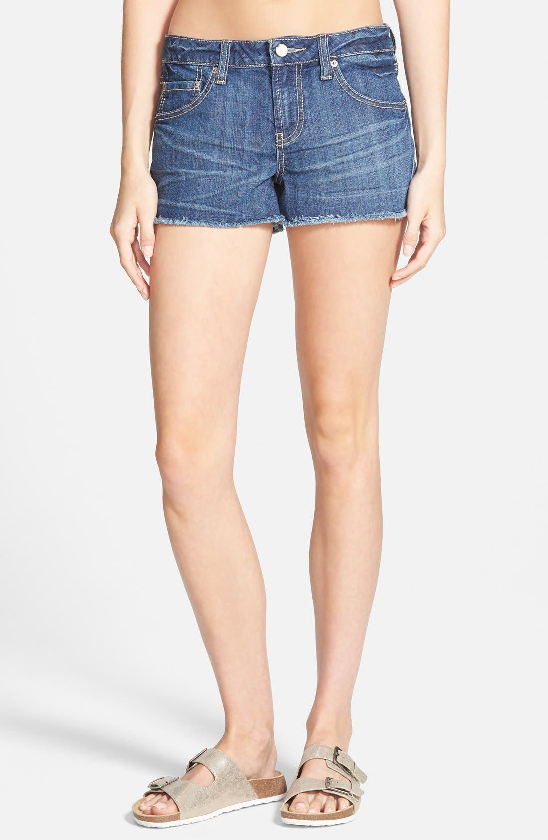 Alternate Image 1 Selected - Standards & Practices Cutoff Denim Shorts (Dark)