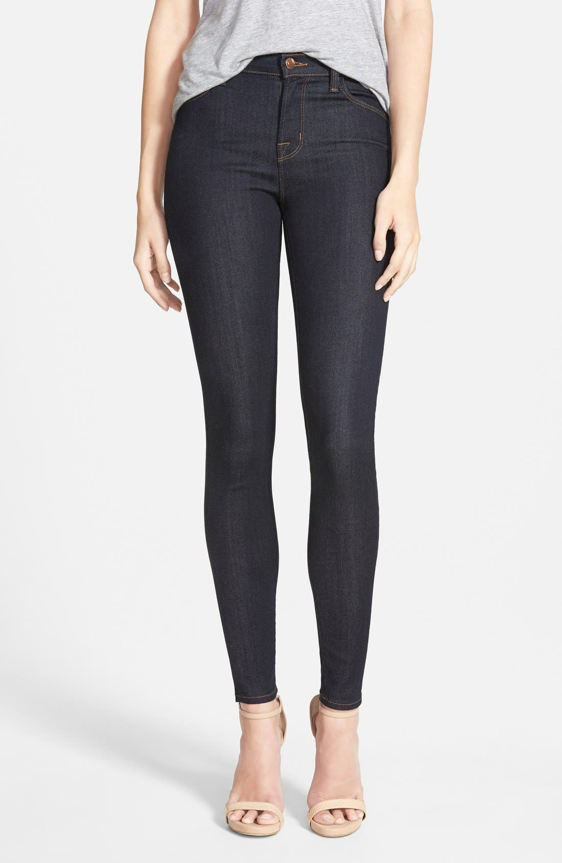 J Brand Maria High Waist Skinny Jeans (After Dark)
