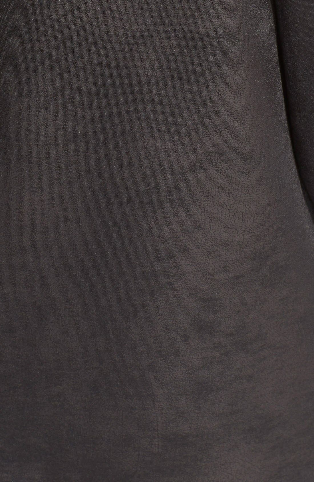 Alternate Image 3  - The Kooples Drape Neck Coated Knit Jacket
