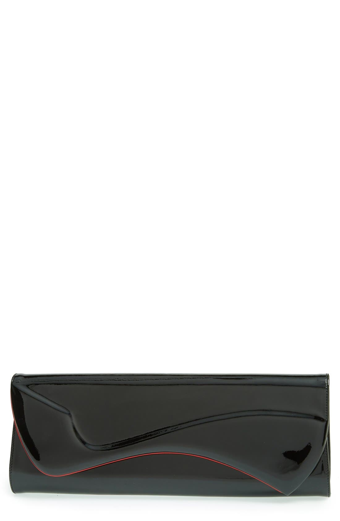Main Image - Christian Louboutin 'Pigalle' Patent Leather Clutch