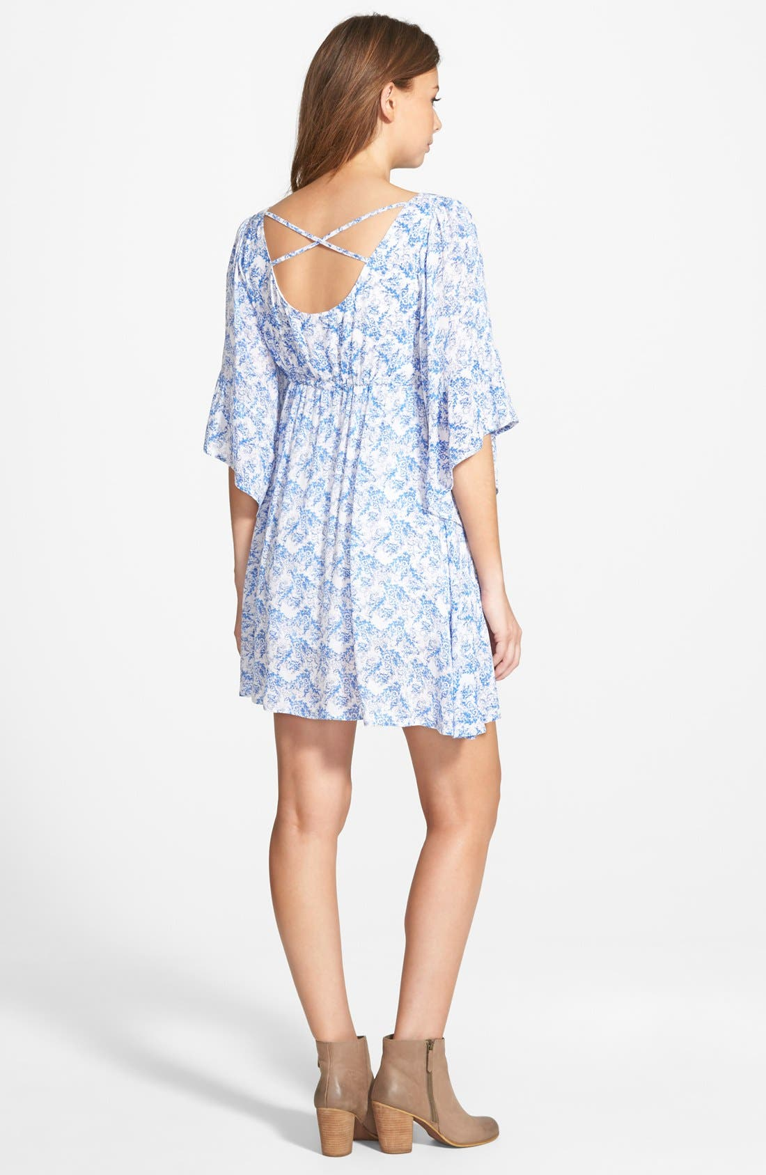 Alternate Image 2  - Cream and Sugar Bell Sleeve Dress