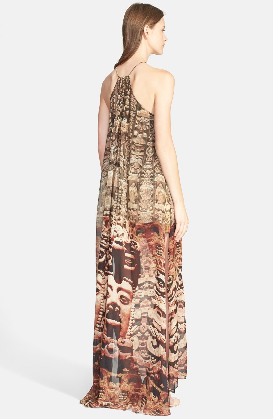 Alternate Image 2  - Camilla 'Time Among the Gods' Crystal Embellished Print Silk Maxi Dress