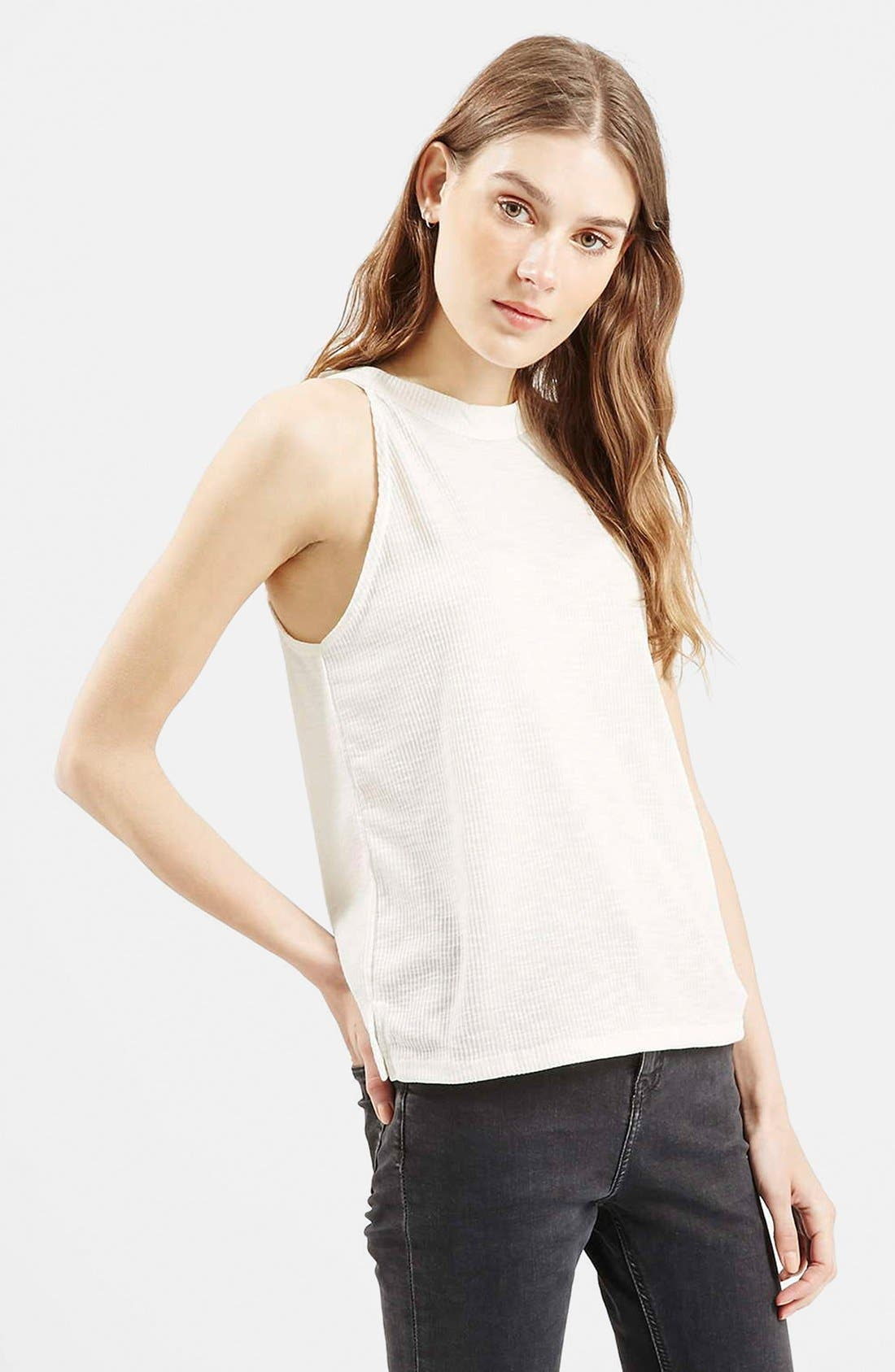 Main Image - Topshop '70s High Neck Tank