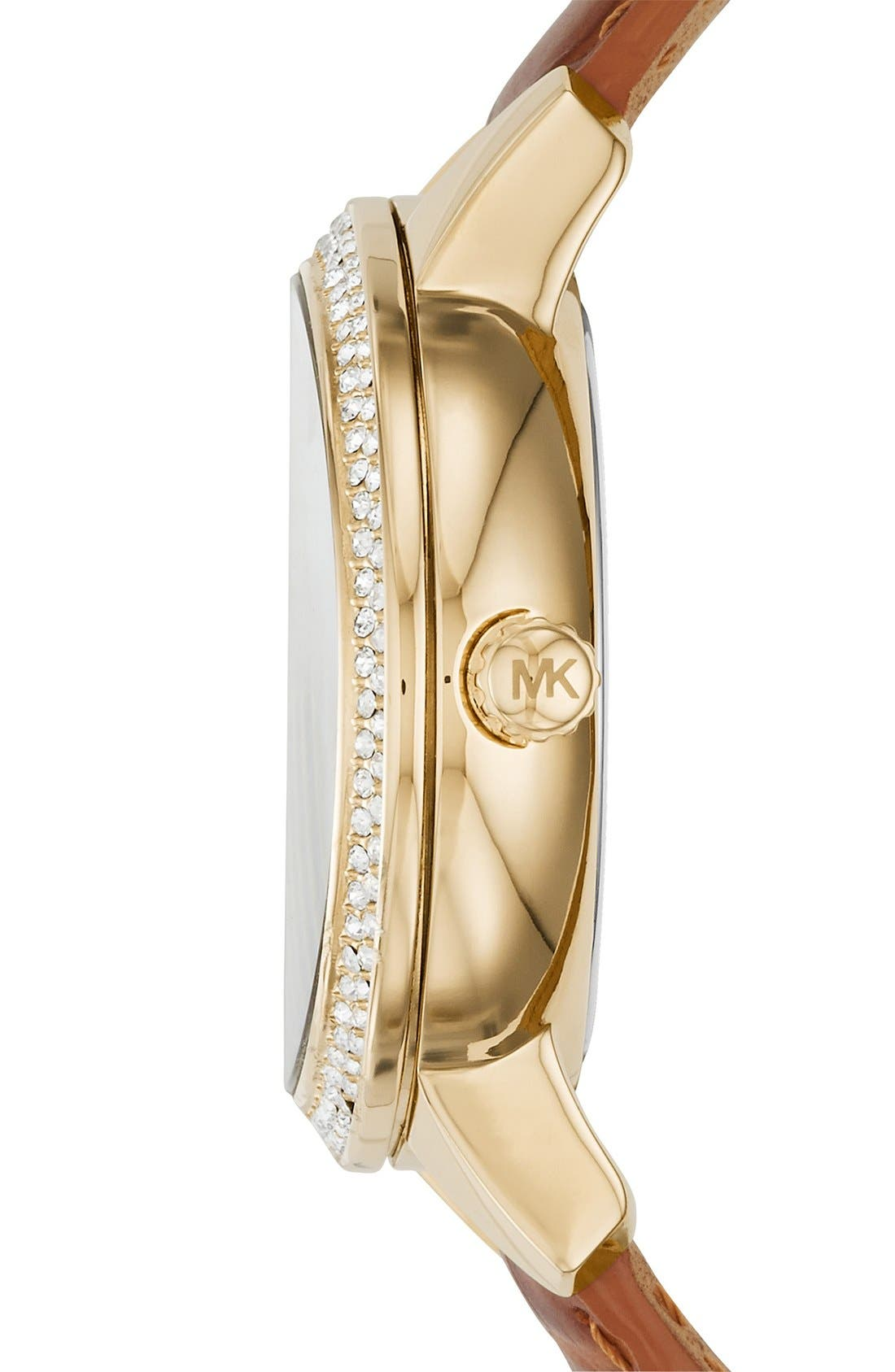 Alternate Image 2  - MICHAEL Michael Kors 'Whitley' Leather Strap Watch, 41mm