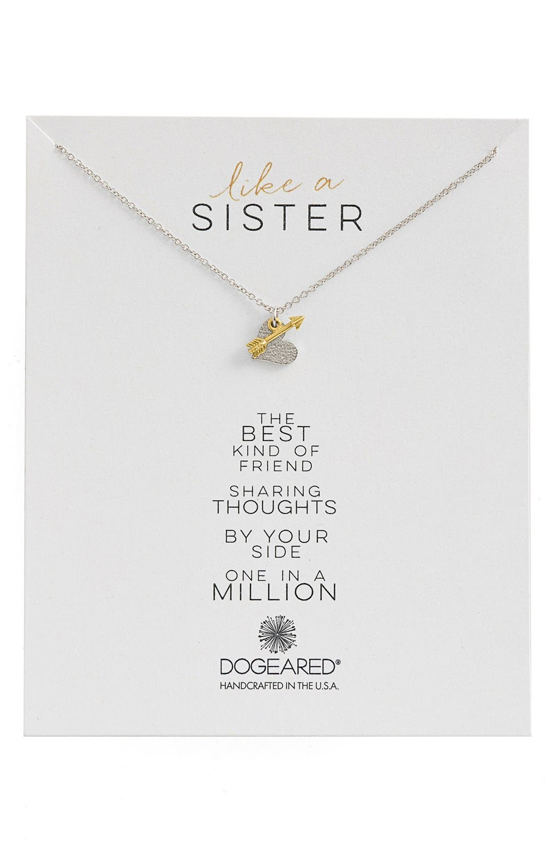 Main Image - Dogeared 'Family - Like a Sister' Cluster Pendant Necklace