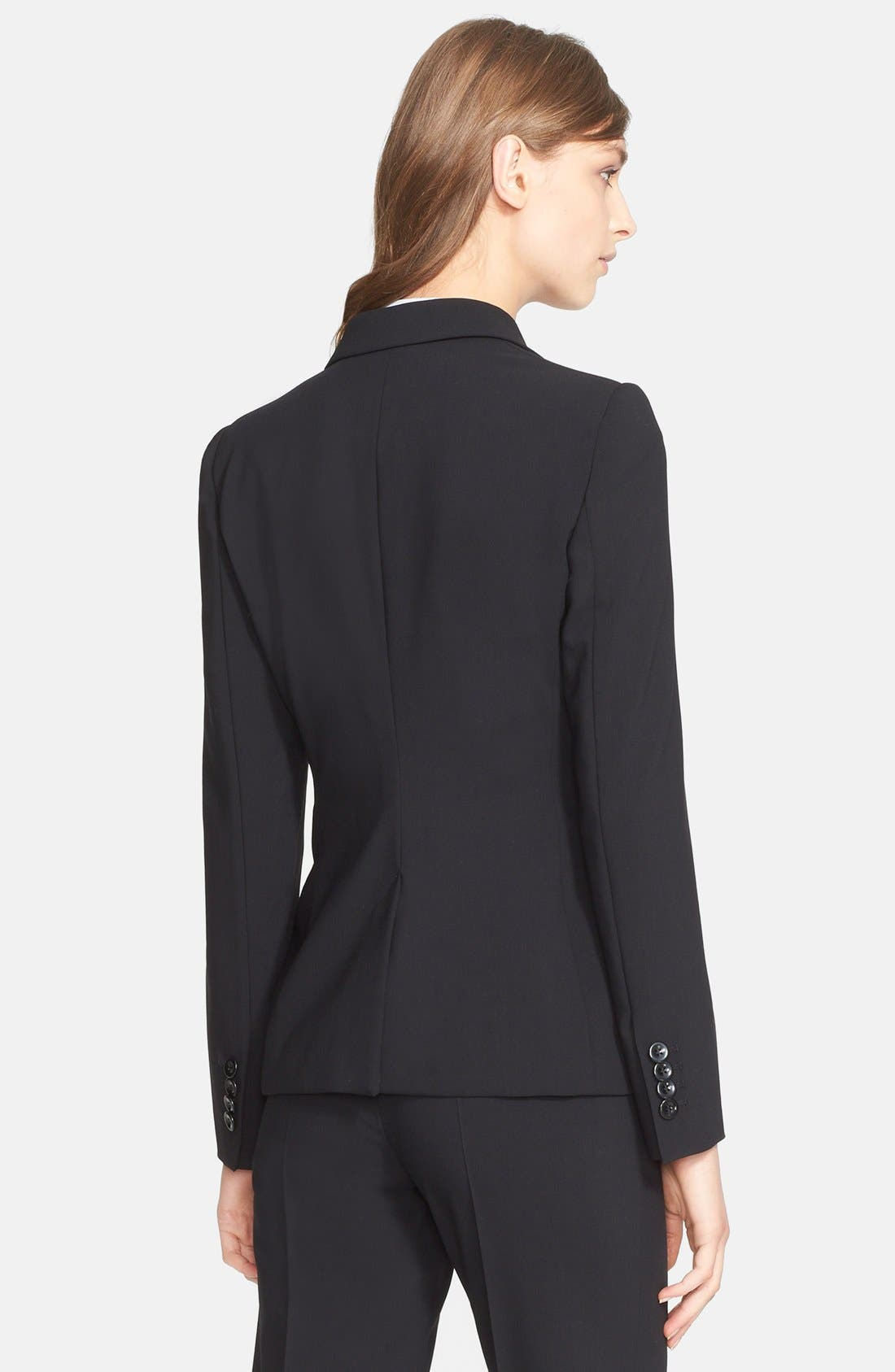 Alternate Image 2  - Armani Collezioni Single Button Wool Jacket