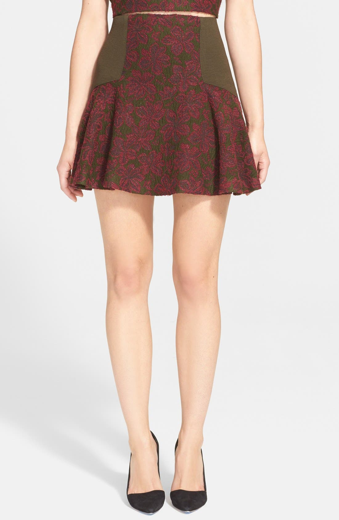 Alternate Image 1 Selected - Alice + Olivia 'Elsie' Fit & Flare Skirt