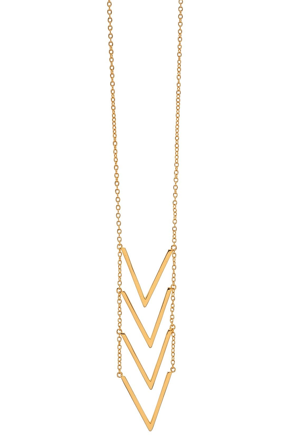 Alternate Image 1 Selected - gorjana 'Morrison' Chevron Pendant Necklace