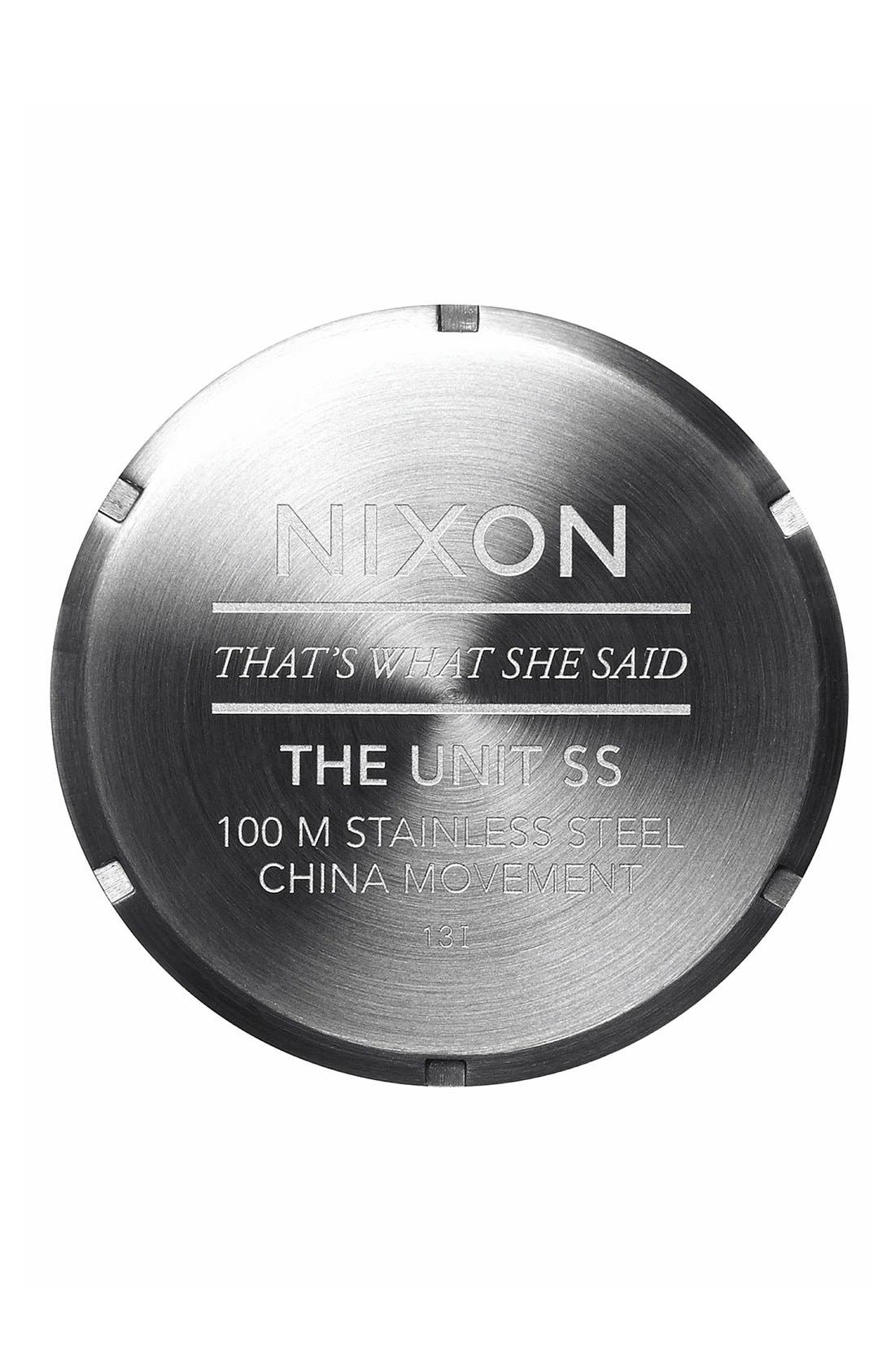 Alternate Image 2  - Nixon 'The Unit' Bracelet Watch, 50mm