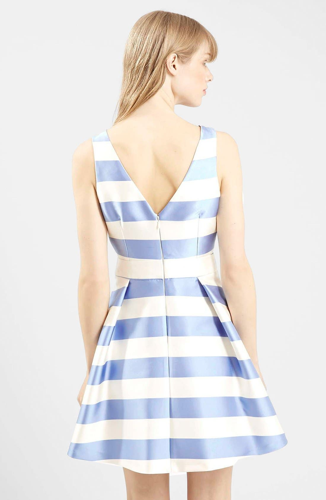 Alternate Image 2  - Topshop Stripe V-Neck Cutout Dress