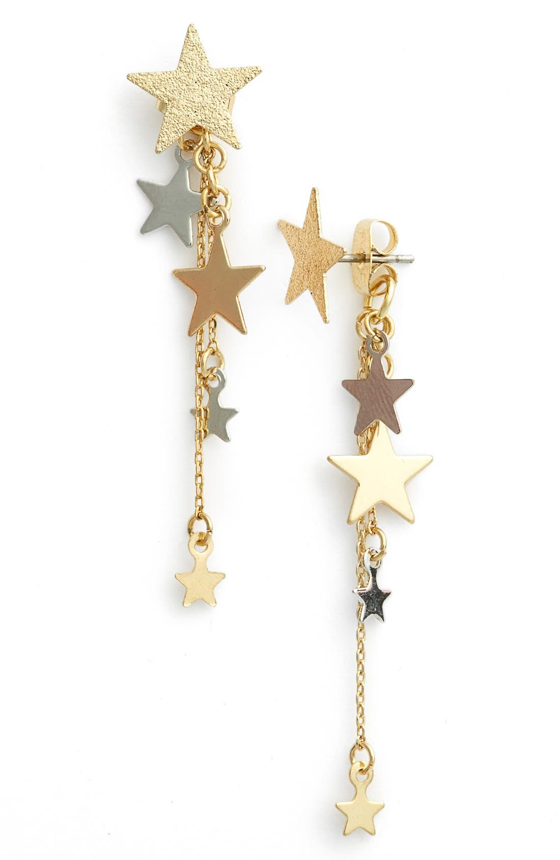 Alternate Image 1 Selected - Topshop 'Star Cascade' Front/Back Earrings