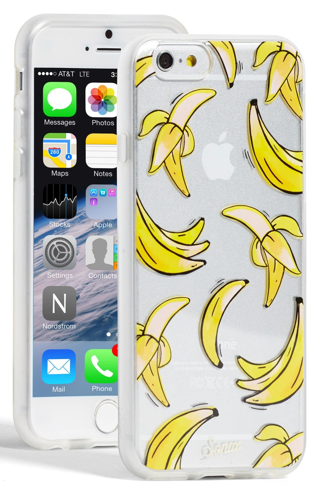 Alternate Image 1 Selected - Sonix 'Clear That's Bananas' iPhone 6 Case