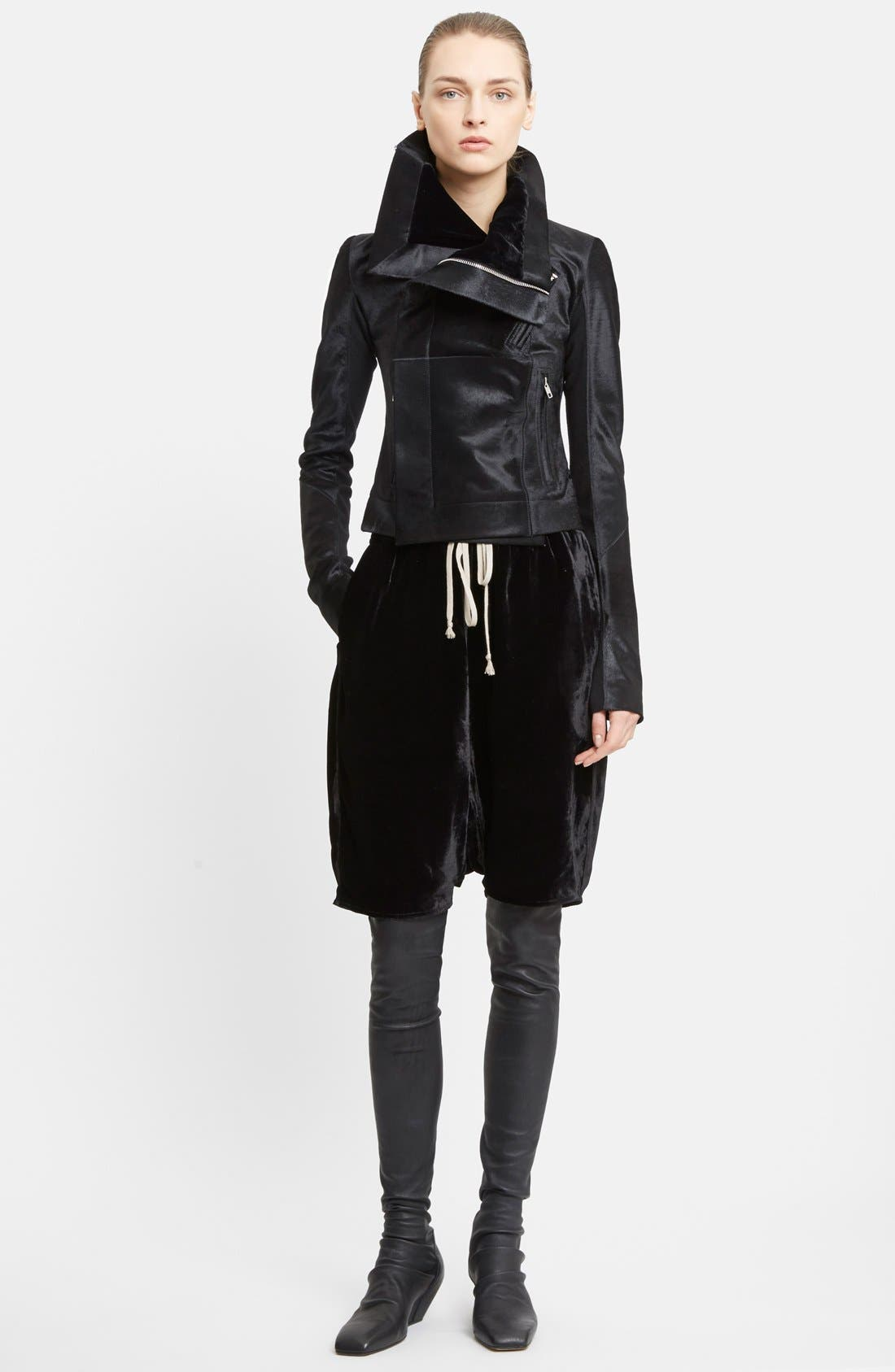 Alternate Image 4  - Rick Owens Classic Genuine Calf Hair Biker Jacket