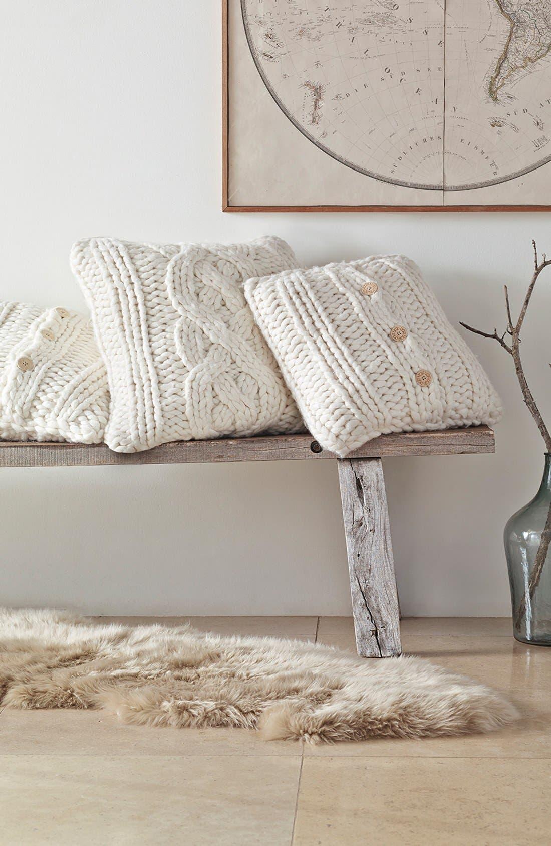 Alternate Image 2  - UGG® Oversize Knit Pillow