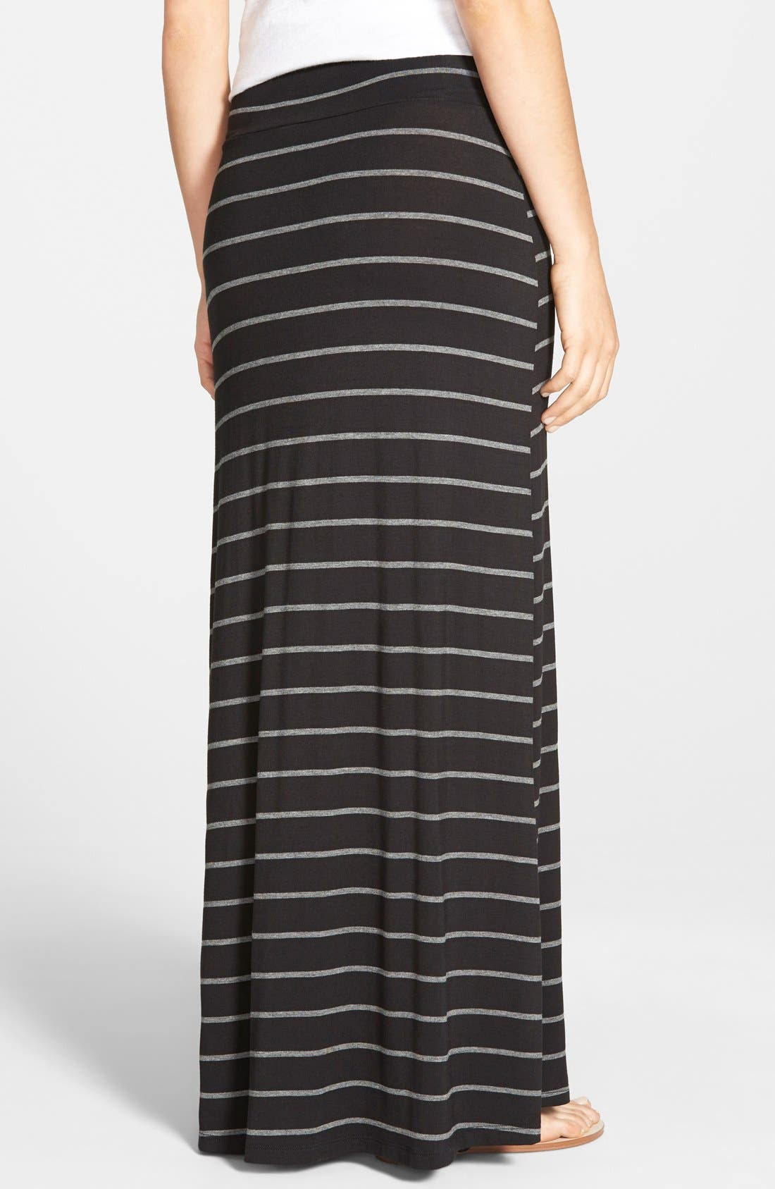 Alternate Image 2  - Bobeau Slit Maxi Skirt (Regular & Petite)